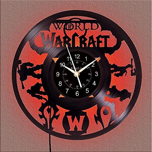 FCWMD Reloj de Pared con Disco de Vinilo, diseño Moderno, Gimnasio, Tema, Regalo, Creativo, Hecho a Mano, Reloj de Pared para el hogar, 12 Pulgadas, sin LED.