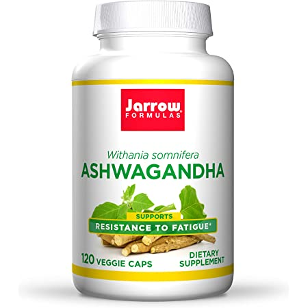 Jarrow Formulas Ashwagandha 300 mg, Overall Health & Resistance to Fatigue, Supports Endurance, Muscle Recovery & Cognitive Health, 60 Servings, White, 120 Count