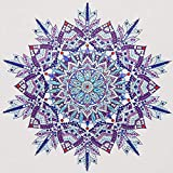 DIY 5D Kits de Pintura de Diamantes Taladro Completo Cristal Redondo Diamantes de imitación Imagen Artesanía para el hogar Decoración de Pared30x40cm,caleidoscopio,by Awenna