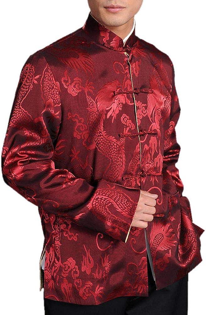 Chinese Tai Chi Kungfu Reversible Red/Gold Jacket Blazer 100% Silk Brocade #106