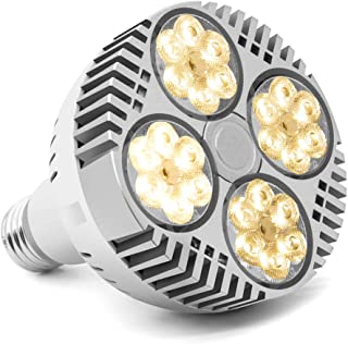 LED Grow Light Bulb 120W, CFGROW Full Spectrum LED Plant Grow Light Bulb, E26 Sunlike White LED Plant Bulb Fan Cooling for Indoor Garden Hydroponics Greenhouse Succulent Flower Veg and Bloom
