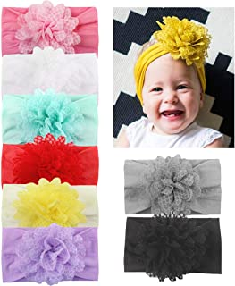 f90d1a0e2fc6 DANMY Baby Girl Nylon Headbands Newborn Infant Toddler Hairbands with Bows  Children Hair Accessories