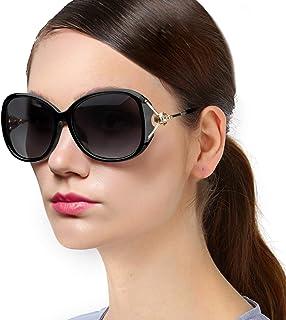 Protineff Lentes de Sol de Moda para Mujer con Protección UV 100%, Gafas de Sol Polarizadas de Gran Tamaño para Viajar, Conducir