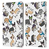Head Case Designs Corgi Dog Breed Patterns Leather Book Wallet Case Cover Compatible with Samsung Galaxy Tab A 10.1 2019
