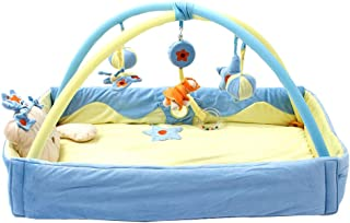 Toyvian Baby Play Mat Frame Crawling Blanket Fitness Baby Game Protective Mat Frame Blue