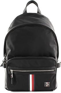 Tommy Hilfiger Men's Clean Nylon Backpack, Black - AM0AM05818