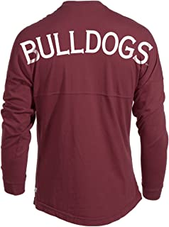 Official NCAA Mississippi State Bulldogs Womens Oversized Long Sleeve Jersey Tee