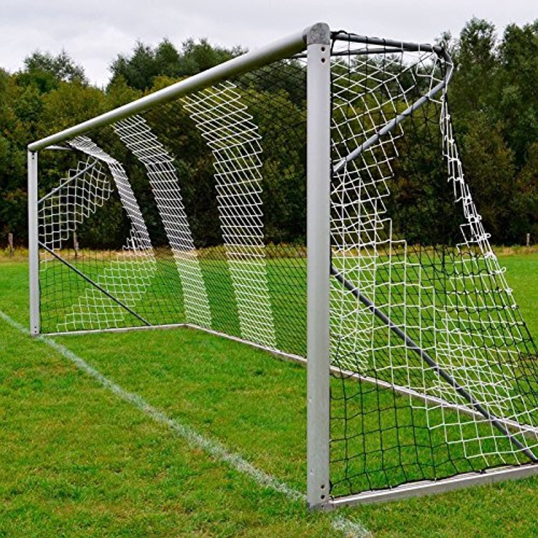 Donet Fußballtornetz 7,5 x x x 2,5 m Tiefe oben 2,00 unten 2,00 m, zweifarbig, PP 4 mm ø, schwarz weiß B01DNOR5D4  Trendy 6ea34b