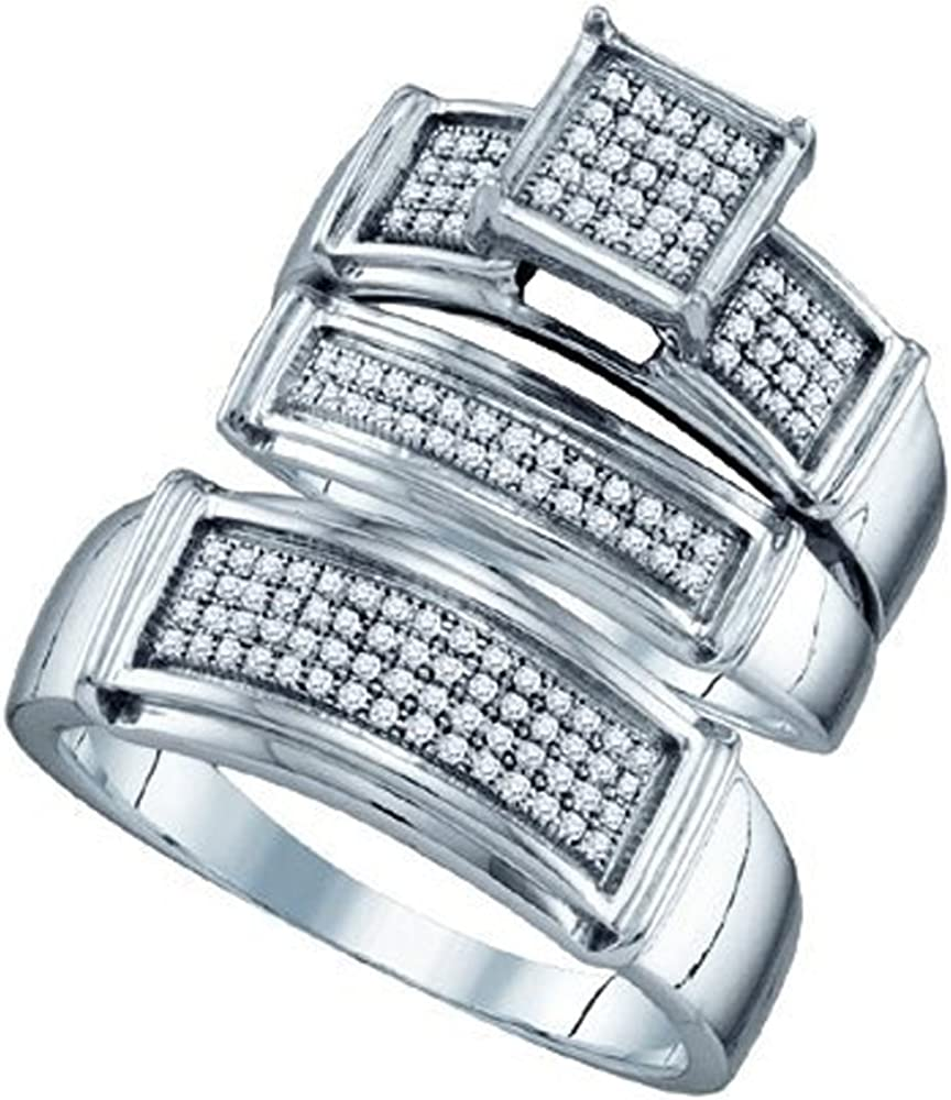 Dazzlingrock Collection 0.41 Carat Our Seattle Mall shop OFFers the best service ctw Diamond Round 10k White