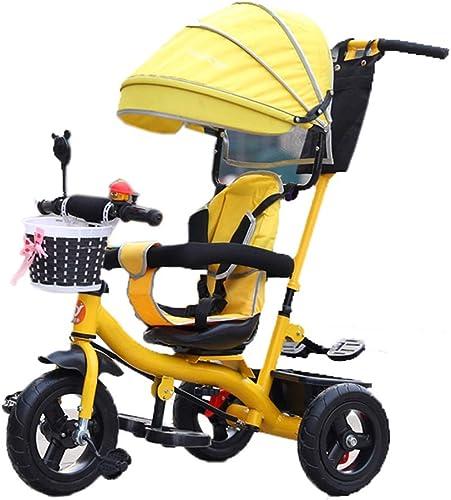 compra limitada Neumático Neumático Neumático de Triciclo   Triciclo Infantil 4 en 1 para 6 Meses a 6 años Asiento de Niño y niña Puede Girar con toldo  venta al por mayor barato