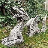Statue del giardino del drago, grande statua decorativa da giardino in resina, statua decorativa da giardino, drago del fossato, divertente ornamento in resina per la decorazione esterna