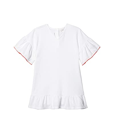 Janie and Jack Terry Cloth Cover-Up (Toddler/Little Kids/Big Kids) (White) Girl
