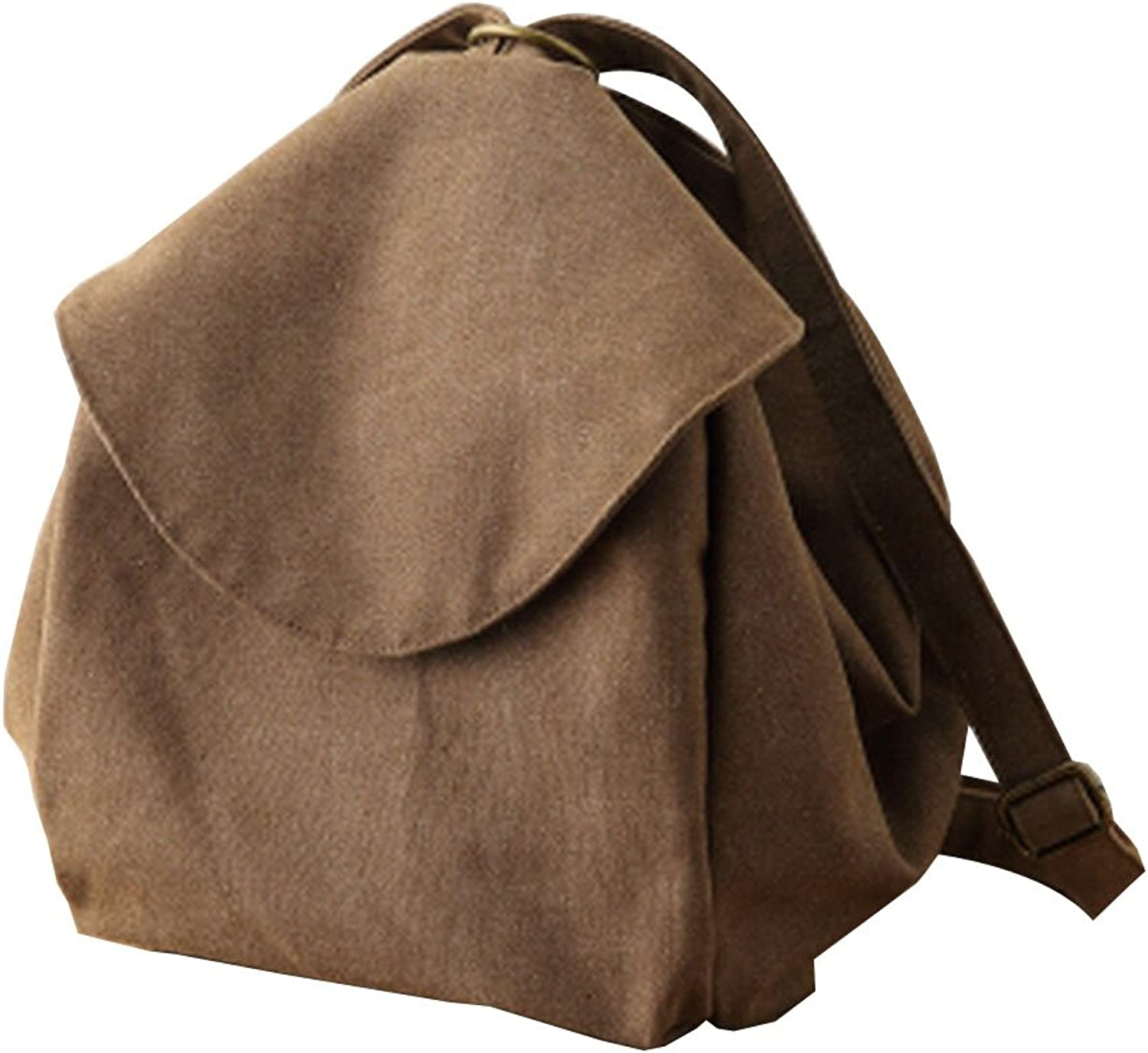 Canvas Bags Canvas Backpack Casual Bags for Students [Brown]