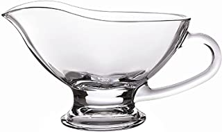 Bezrat Large crystal Coupe Shaped Gravy Sauce Boat
