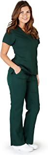 Ultrasoft Premium Mock Wrap Medical Nursing Scrubs Set for Women - Junior FIT