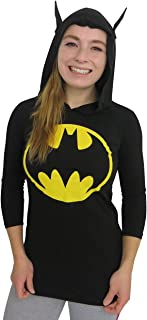 SuperHeroStuff Batman Signal Women's Hooded Long Sleeve T-Shirt