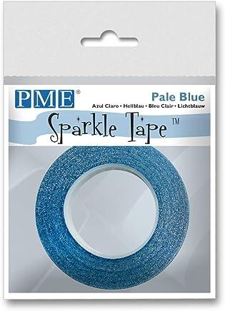 PME Florist Sparkle Tape Pale W/Silver Sparkle, Blue