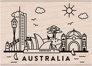 Hero Arts Destination Australia Red Rubber Woodblock Stamp