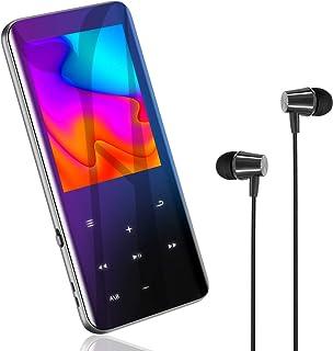 Bluetooth5.0 MP3プレーヤー 音楽プレーヤー 2.4インチHD大画面/3D曲面 16GB内蔵 128GBまで拡張可能 スピーカー内臓 SDカード対応 超軽量 ワンタッチ録音 FMラジオ多機能 ポータブルオーディオプレーヤー 日本語...