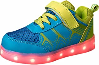 [DoGeek] LEDライトUp靴男の子女の子キッズスニーカー7色ライト(Choose半分サイズUp)
