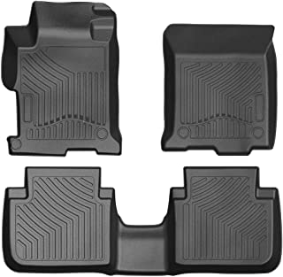 COOLSHARK Floor Mats Custom Fit for 2013-2017 Honda Accord Sedan (Not Fit Coupe Bodystyle),1st and 2nd Row Included - All Weather Protection, Black