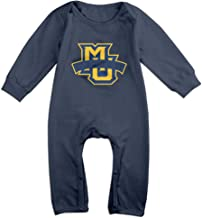 Momo Marquette MU Logo Universidad Baby Romper Playsuit trajes azul marino