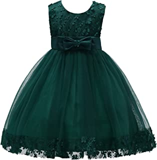 IBTOM CASTLE 2-10T Big Little Girl Ball Gown Short Lace Flower Tulle Prom Dresses for Wedding Party Evening Dance