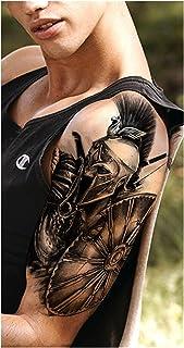 CQHUI Afrika Lion Tijdelijke Tattoo Indian Tribal Mighty Lion Warrior Waterdichte Flash Tattoo Sticker Zwarte Mannen Vrouw...