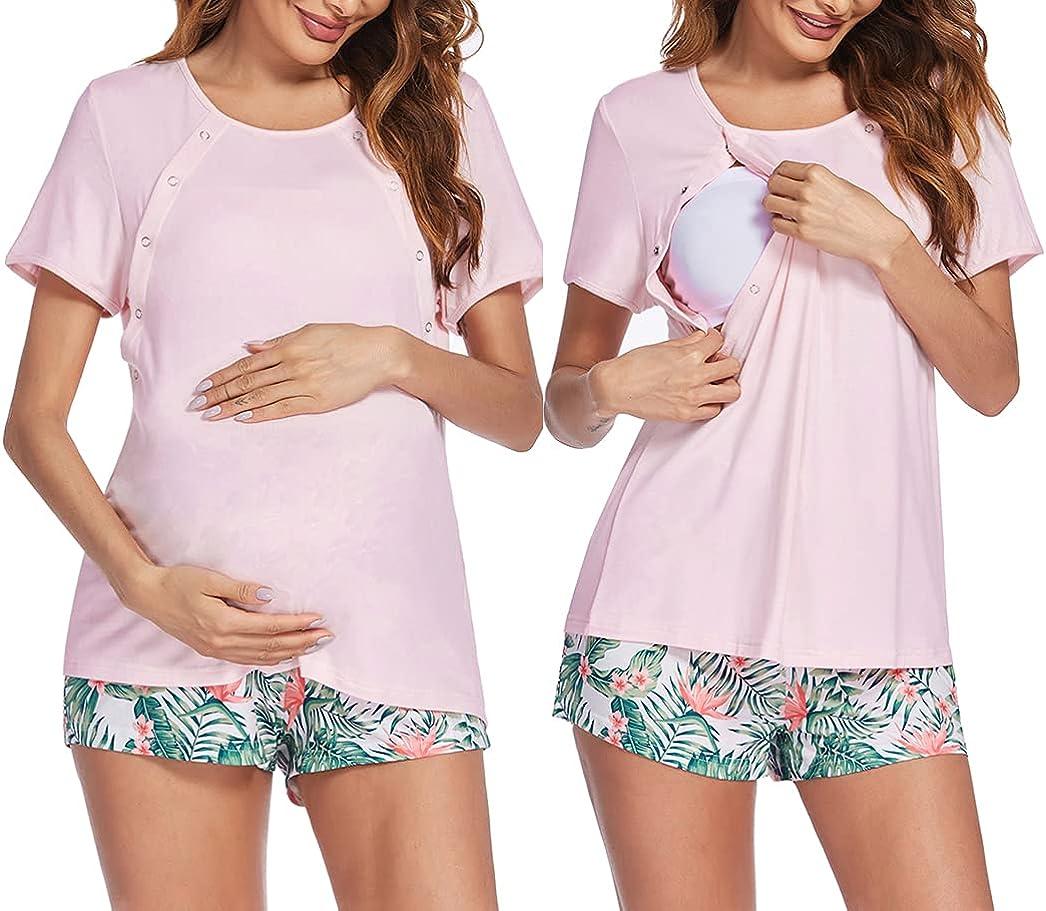 Ekouaer Maternity Nursing Pajamas Breastfeed Sets Sleepwear Louisville-Jefferson County Mall Sale item Butt