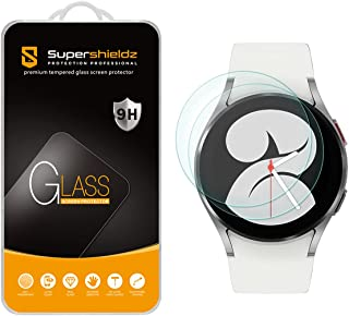 (2 Pack) Supershieldz Designed for Samsung Galaxy Watch 4 (40mm) Tempered Glass Screen Protector, Anti Scratch, Bubble Free