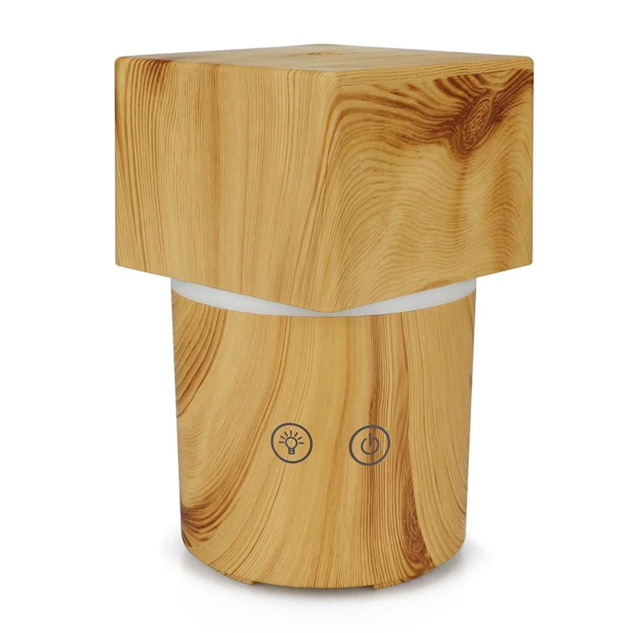 戸棚事実アベニューリードディフューザー 超音波加湿アロママシンクリエイティブエッセンシャルオイルインテリジェントカラフルなホームデスクトップミニBluetooth音楽加湿器電子ディフューザーミニサイレント加湿器 YHDD (Color : C)