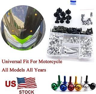 For Yamaha YZFR6 YZF R6 1998 1999 2000 2001 2002 Complete Fairing Bolt Kit Screws Black