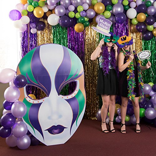 Giant Mardi Gras Masquerade Cutout Standee Standup Photo Booth Prop Background Backdrop Party Decoration Decor Scene Setter Cardboard Cutout
