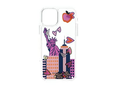 Kate Spade New York NYC Liquid Phone Case for iPhone(r) 11 Pro (Clear Multi) Cell Phone Case
