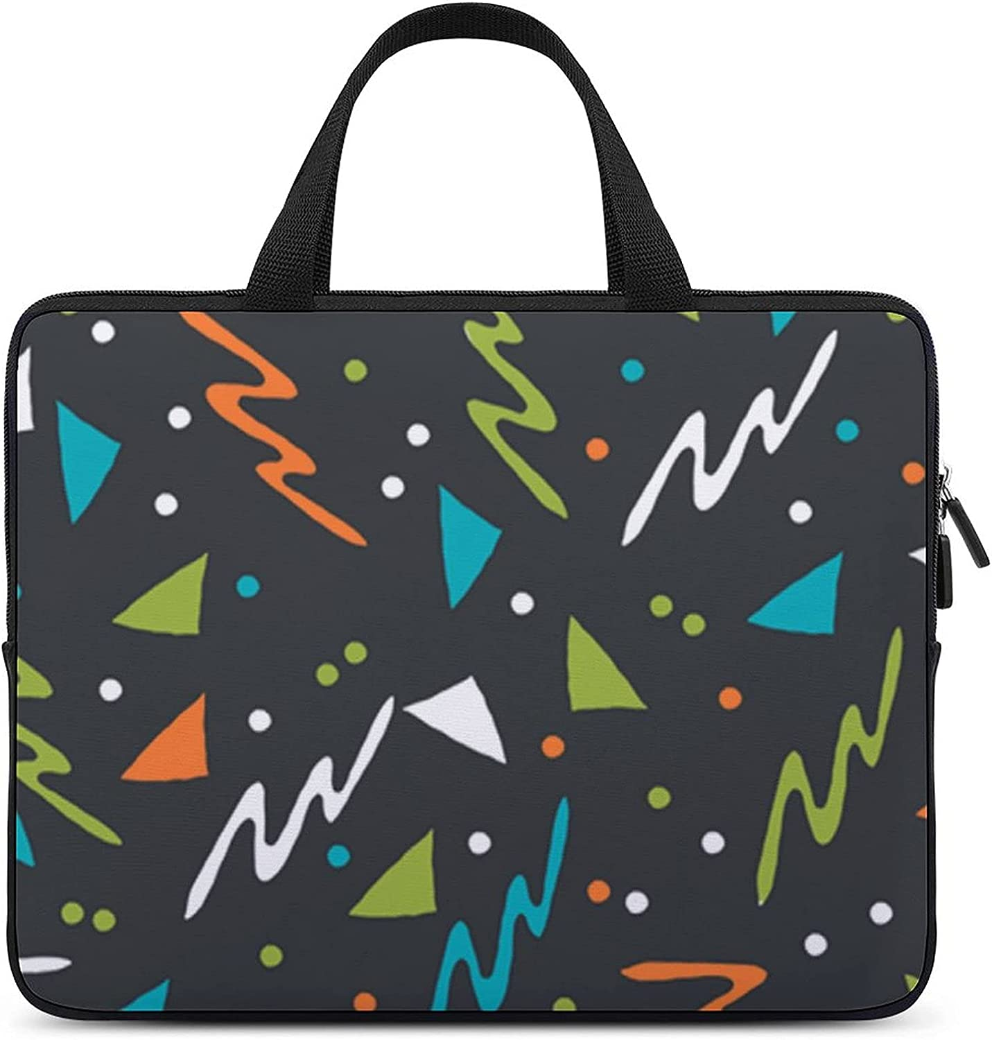 80s Memphis Laptop Tote Bag HandBag Protective Briefcase 15inch Discount mail order Limited time cheap sale