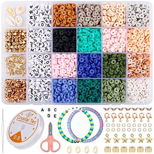 Perline per infilare, perline in polimero di perline da infilare, per adulti e bambini, per il fai da te, per la creazione di gioielli fai da te