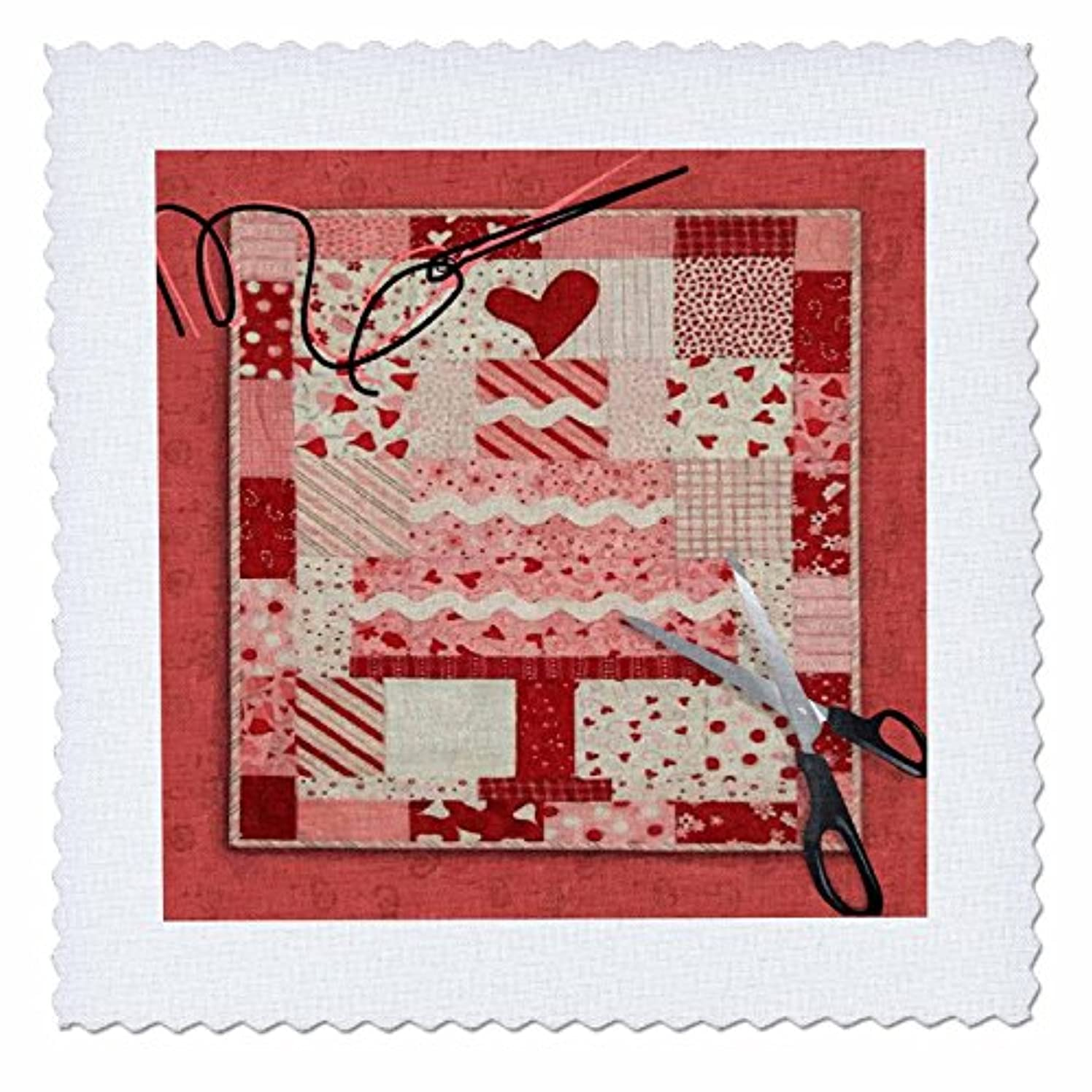 3dRose Susan Brown Designs General Themes - Quilting the Cake - 8x8 inch quilt square (qs_18362_3)
