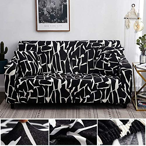 WXQY Estiramiento elástico de Funda de sofá geométrica para Silla Moderna Funda de sofá, Funda Protectora de Muebles de Sala A21 4 plazas