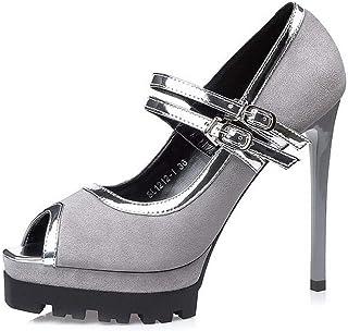 Ying-xinguang Shoes Fashion Sexy Waterproof Table Suede Shoes Women's Fish Mouth High Heels Comfortable