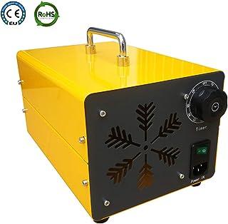 Generador de Ozono Portátil 20.000mg/h Comercial Purificador de Aire, Ozonizador Coche, Esterilizador Purificador con Ventilador Interior