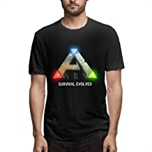 Men`s Casual Cotton Cool ARK Survival Evolved Logo Graphic Tee Shirts Short Sleeve O-Neck Sports Teen Tops T-Shirt