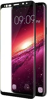 """تراندز واقي شاشة سامسونج جالكسي S9 مع حافة منحنية ثلاثية الابعاد مع فقاعات لهاتف جالكسي S9 5.8"""" اصدار 2018 - أسود"""
