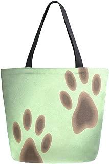 Womens Canvas Tote Bag Dinosaur Happy Birthday Large Shopping Bag Shoulder Handbag