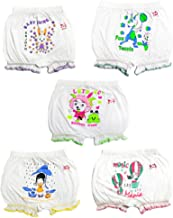 Hap White Printed Bloomer(Pack of 5)