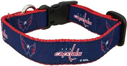 طوق كلاب NHL Washington Capitals من All Star Dogs، مقاس متوسط، لون أحمر