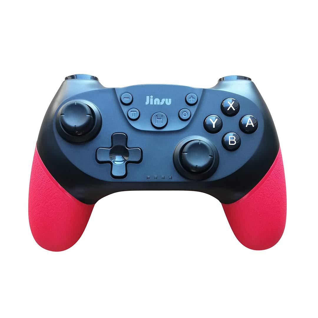 JinSu Mando Inalámbrico para Nintendo Switch, Controlador Inalámbrico con Función NFC, Bluetooth Gamepad con Dual Shock, Gyro Axis y Turbo Functions, Compatible con PC: Amazon.es: Electrónica