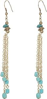 DCA Ice Blue & Gold Glass/Steel Women Earrings (2121)