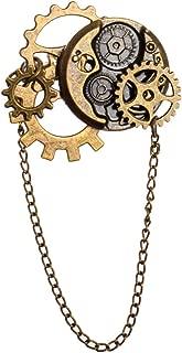 Unisex Steampunk Brooch Lapel Pin