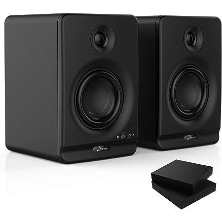 Donner 4'' Moniteur de Studio avec CSR Professionnel Bluetooth 5.0, Paquet de 2, y Compris Les tampons d'isolation de Moniteur Audio de Studio (Dyna4 Noir, Paire)