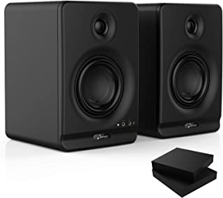 """Donner Studio Monitors 4"""" Near Field Studio Monitors with CSR 5.0 Bluetooth, for Music Production, Live Streaming and Podc..."""